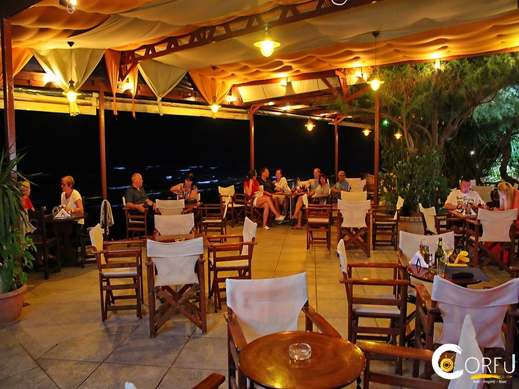Corfu Cafe Bars -  - Stamatis Seaside Restautant Cafe Bar Agios Georgios