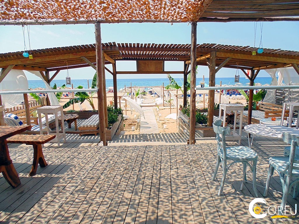 Corfu Cafe Bars -  - Sirens Lounge Cafe Beach Bar Marathias Beach