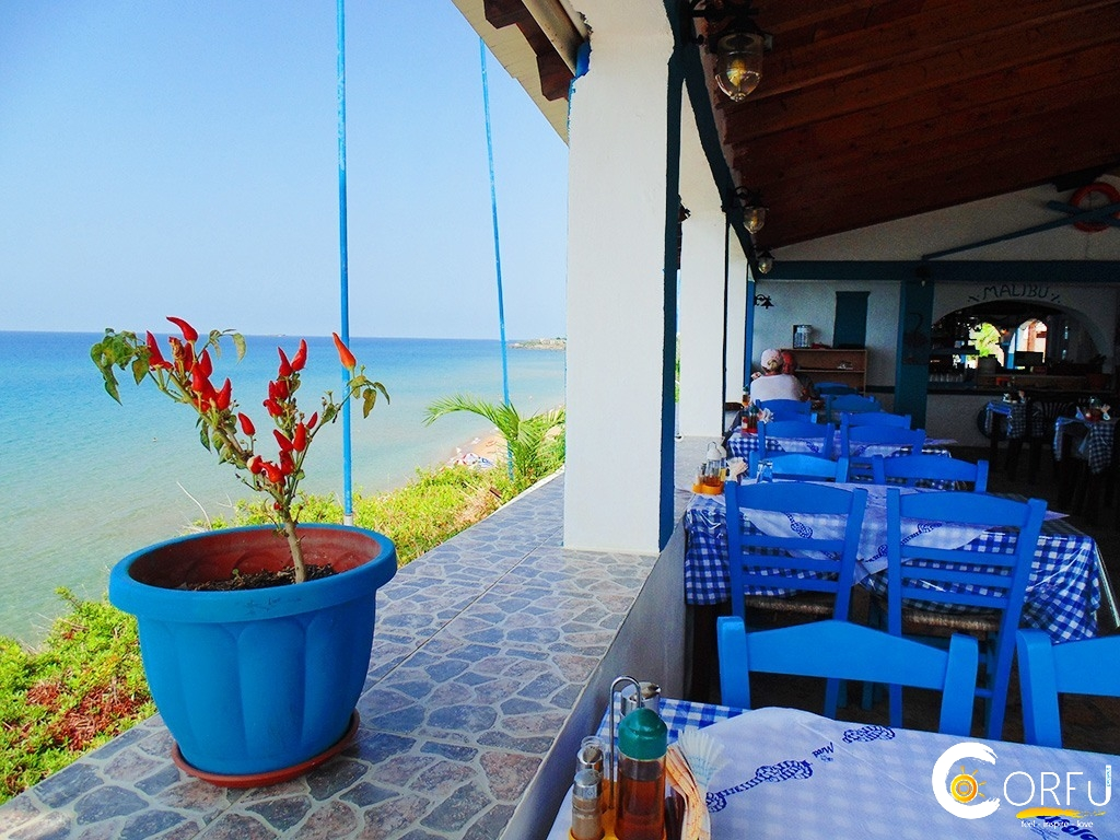 Corfu Restaurants -  - Taverna Malibu Agios Georgios South