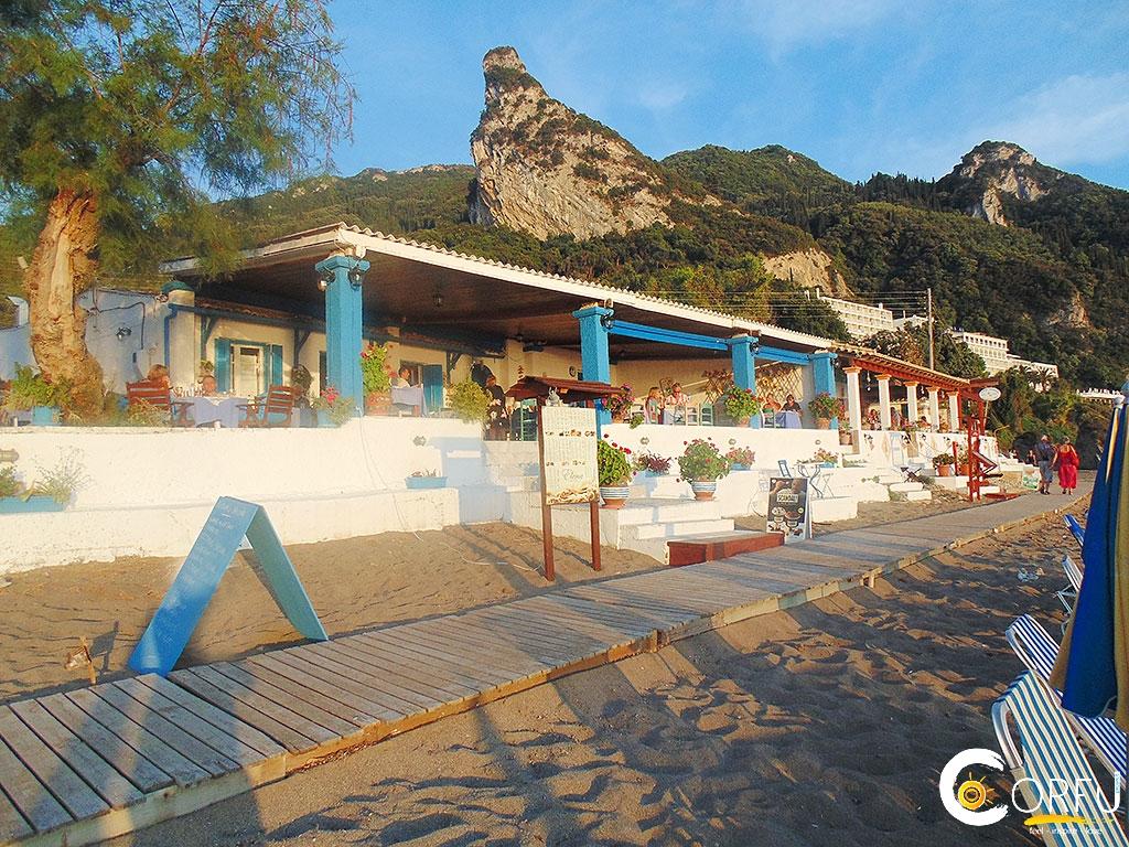 Taverna Elenas Agios Gordios beach logo