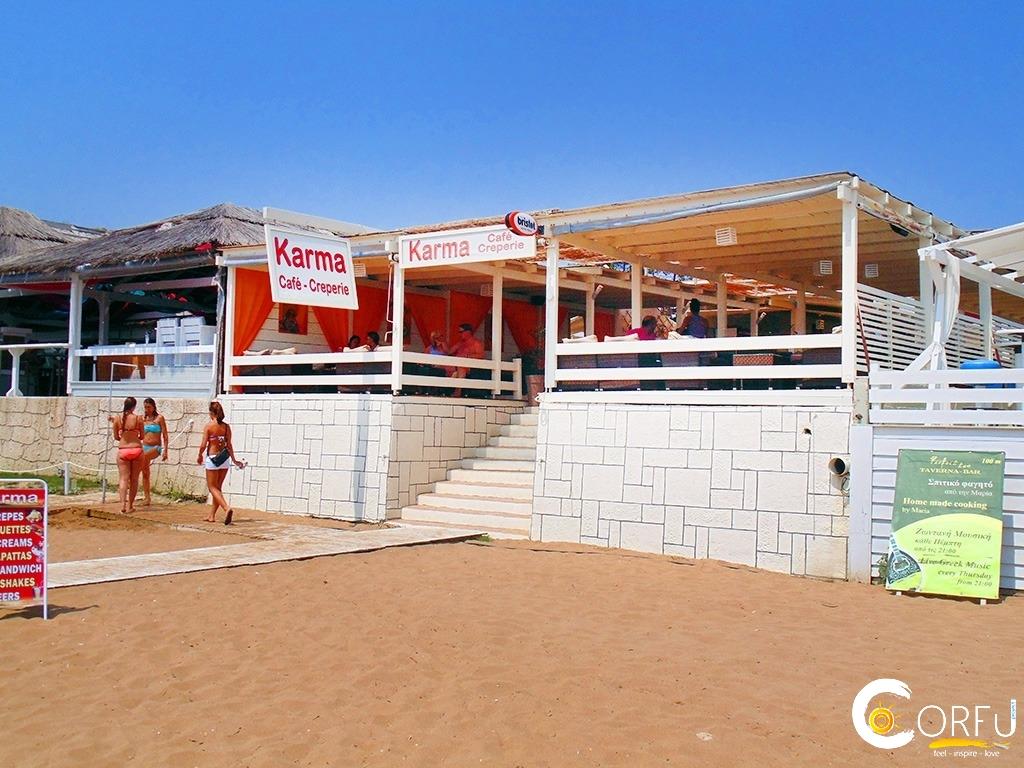 Karma Kitchen Bar Marathias Beach logo