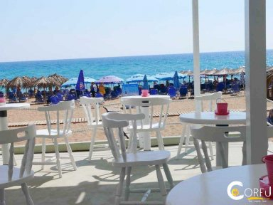 Bright Blue Beach Bar Restautant Marathias Beach