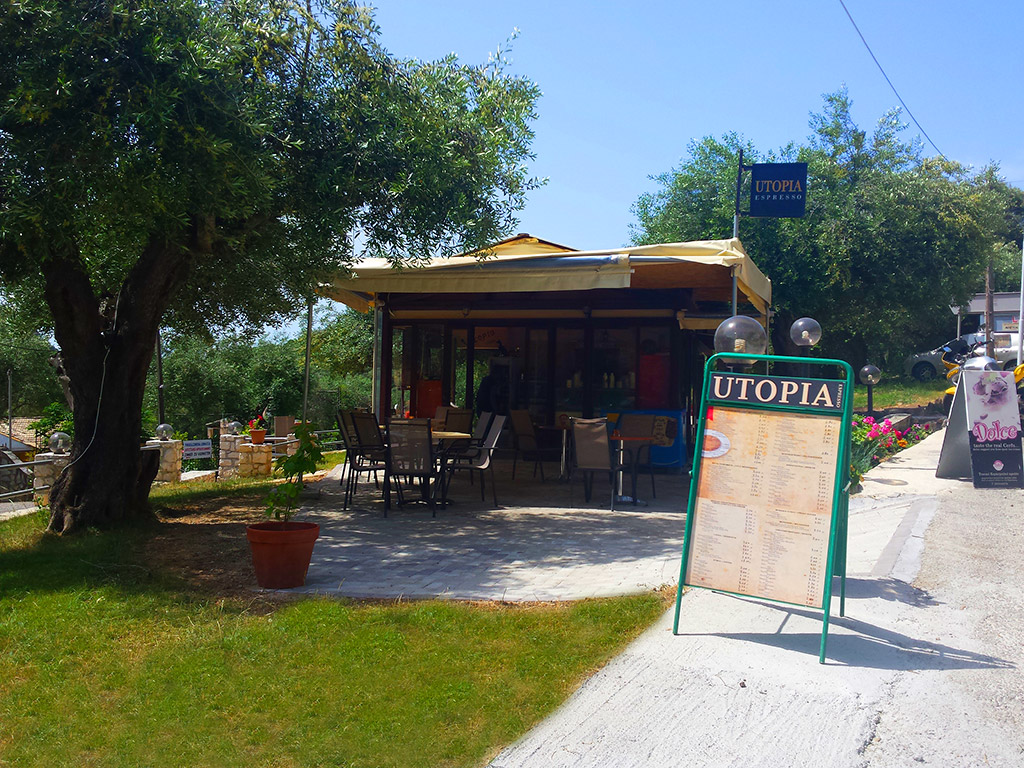 Corfu Cafe Bars -  - Utopia Cafe Bar Palaiokastritsa