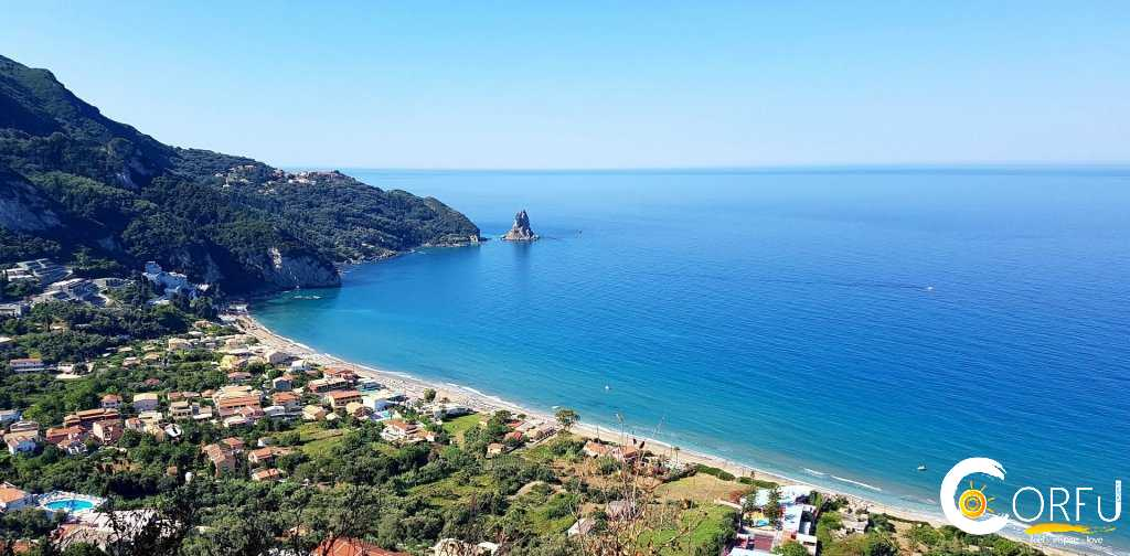 Traveler: Mico Rikic at Beach Saint Gordios or Agios Gordios