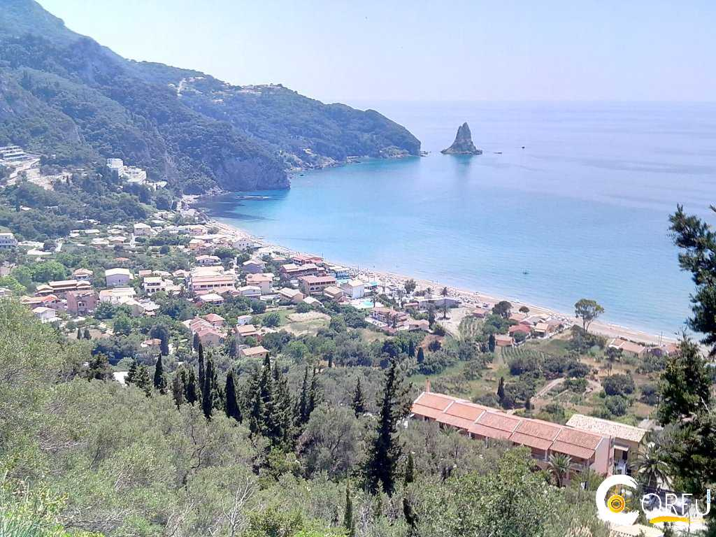 Traveler: Spiros Agathos at Beach Saint Gordios or Agios Gordios